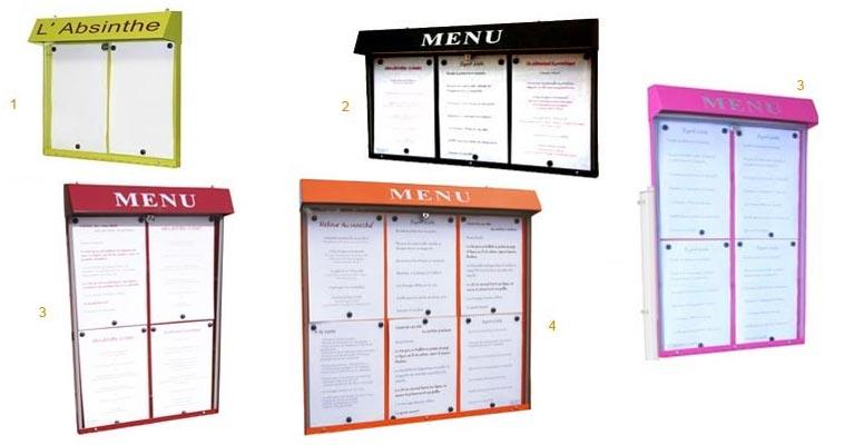 L 39 univers des cartes et menus delfosse for Porte menu exterieur pour restaurant