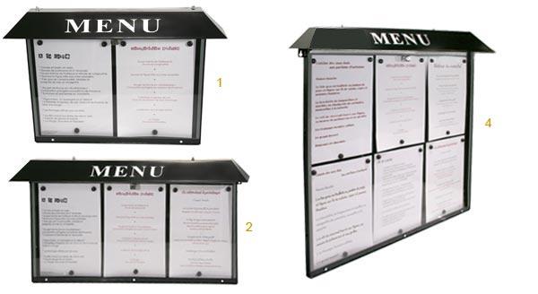 LUnivers Des Cartes Et Menus Delfosse - Porte menu exterieur
